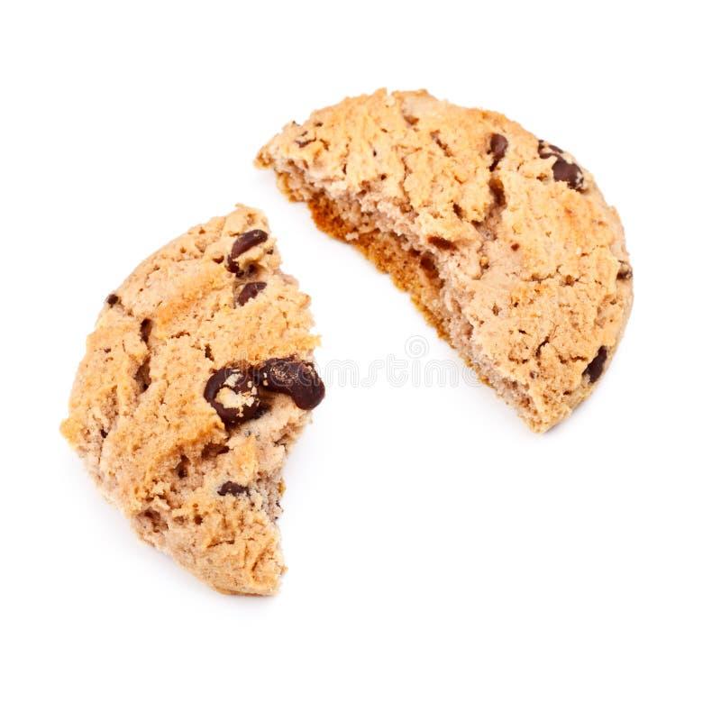 Bolinho de microplaqueta de chocolate do Oatmeal imagem de stock royalty free