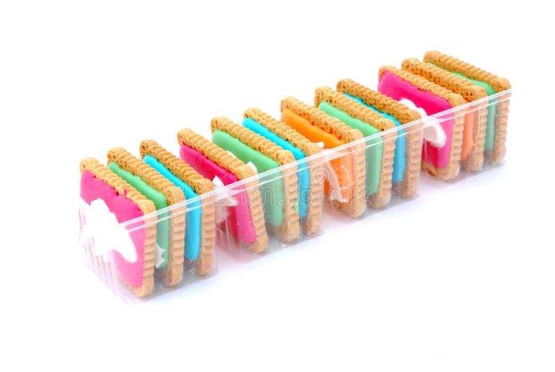 Bolinhos coloridos fotografia de stock