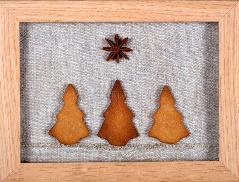 Bolinhos da árvore de Natal imagem de stock royalty free