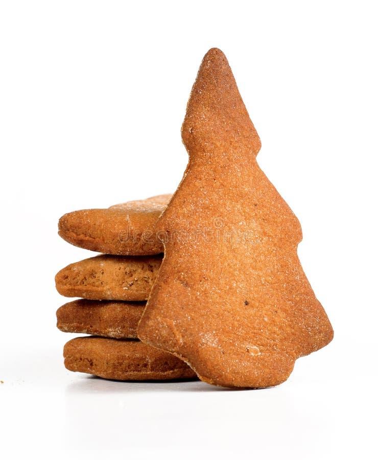 Bolinhos da árvore de Natal do pão-de-espécie imagens de stock royalty free