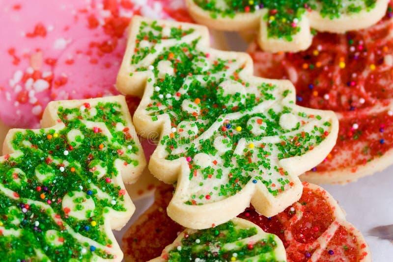 Bolinhos de açúcar do Natal foto de stock