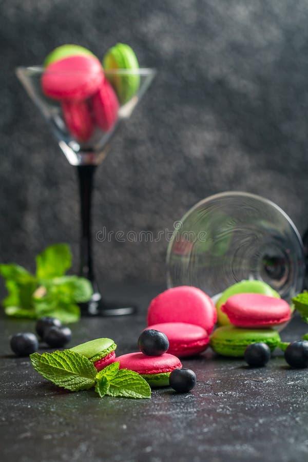 bolinhos de amêndoa franceses das cookies imagens de stock
