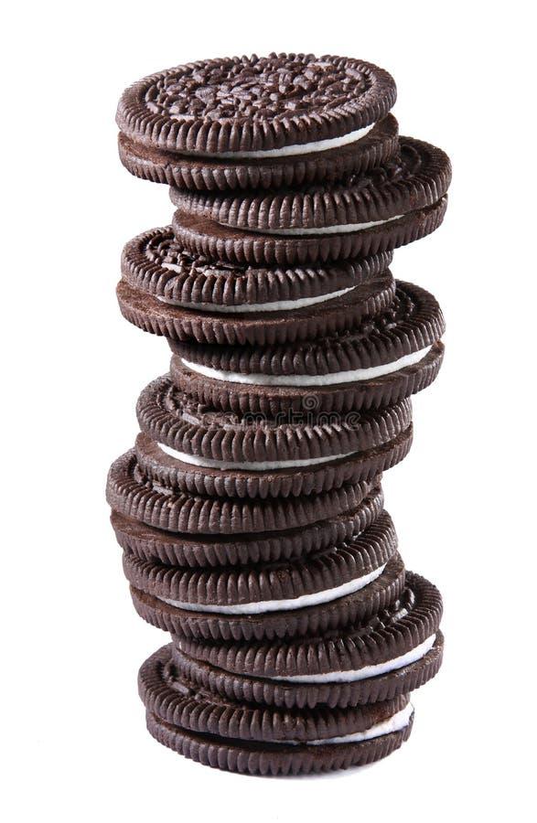 Bolinhos de creme do chocolate imagens de stock royalty free