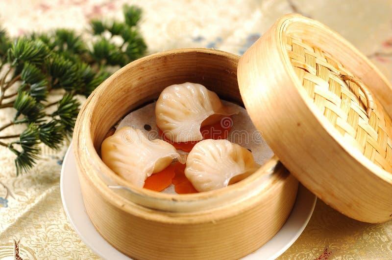 Bolinhos de massa do camarão da soma não ofuscante do Kong-estilo de Hong fotos de stock