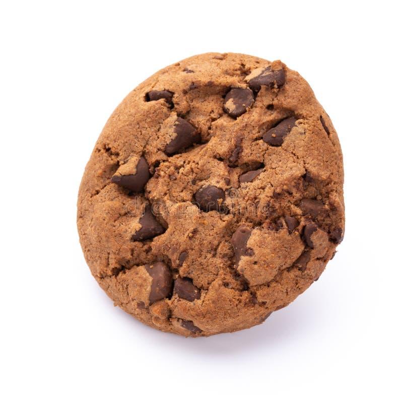 Bolinhos de microplaqueta de chocolate isolados no fundo branco Biscoitos doces Pastelaria caseiro imagem de stock royalty free