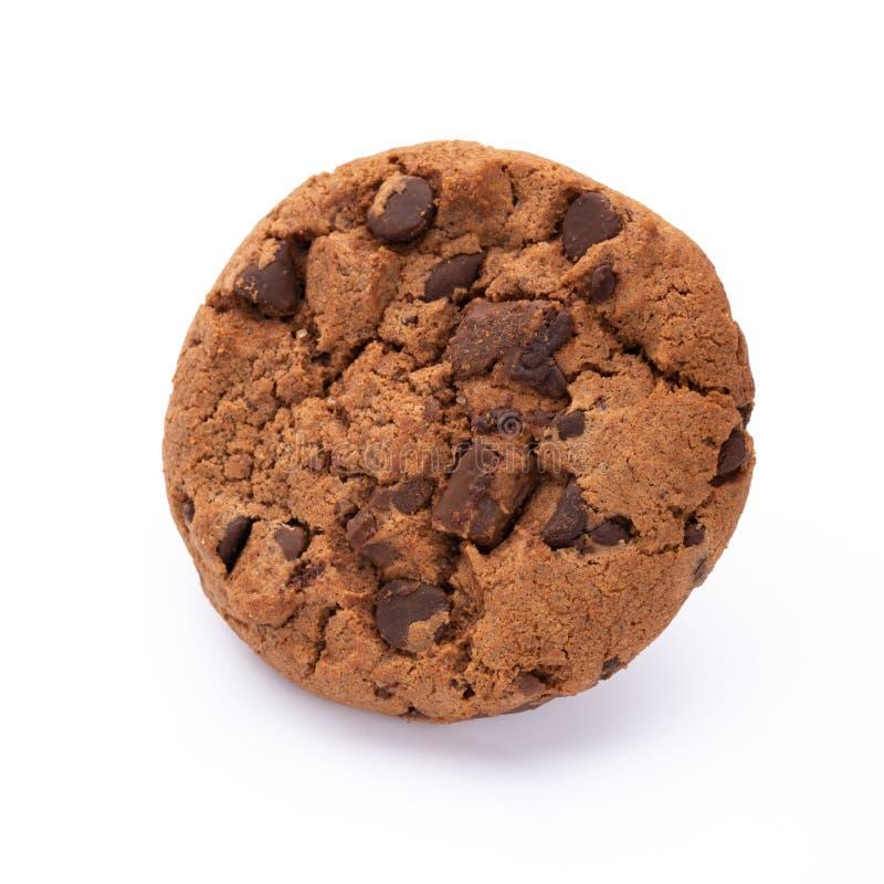 Bolinhos de microplaqueta de chocolate isolados no fundo branco Biscoitos doces Pastelaria caseiro fotografia de stock