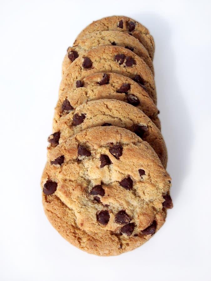 Bolinhos de microplaqueta de chocolate 2 (trajeto incluído) foto de stock
