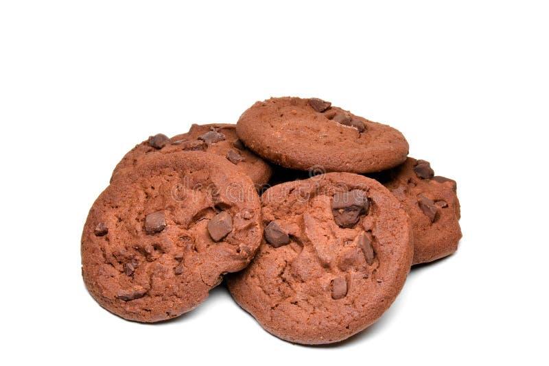 Bolinhos de microplaqueta de chocolate do chocolate fotos de stock royalty free