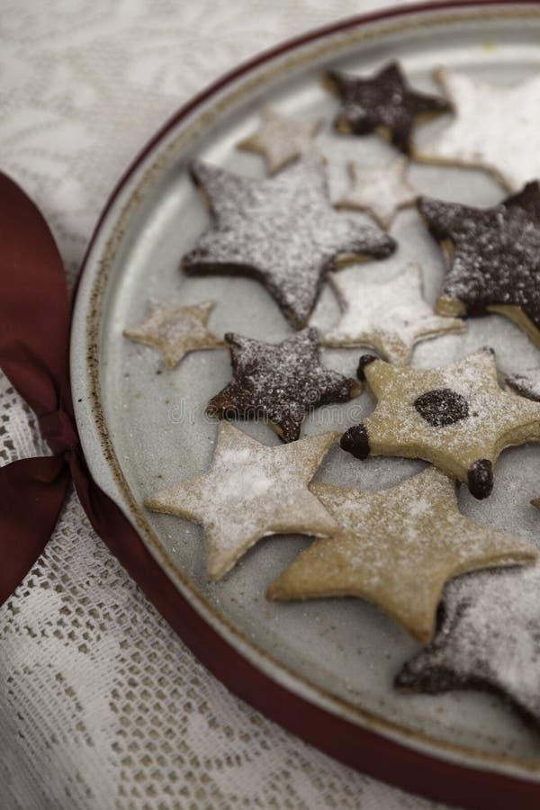 Bolinhos decorados do Natal fotos de stock