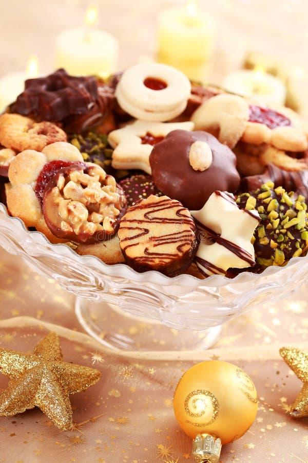 Bolinhos deliciosos do Natal foto de stock royalty free