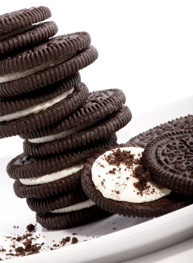 Bolinhos do biscoito do chocolate imagens de stock