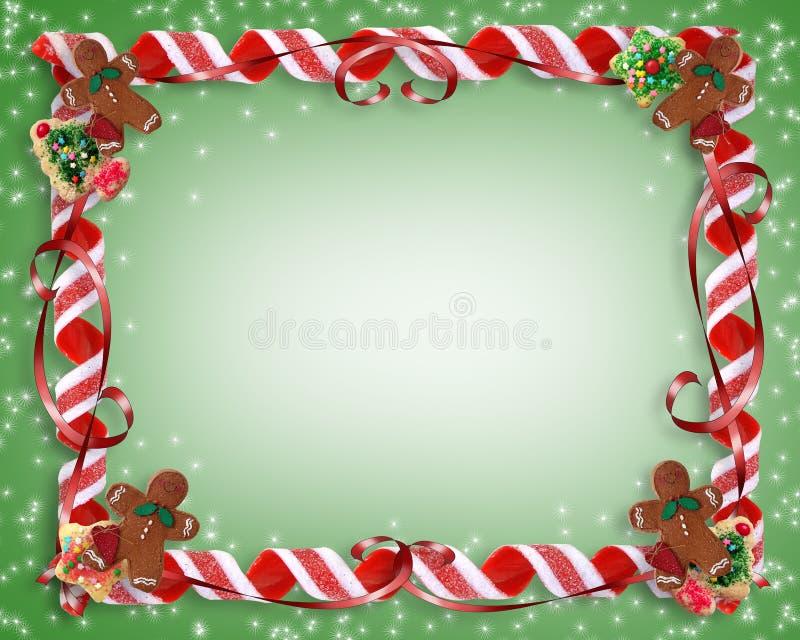 Bolinhos do Natal e frame dos doces ilustração royalty free