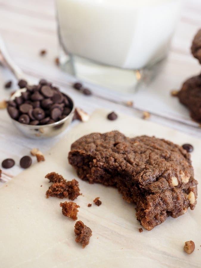 Bolinhos dobro do chocolate foto de stock royalty free