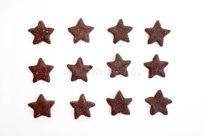 Bolinhos Star-shaped do chocolate fotografia de stock royalty free