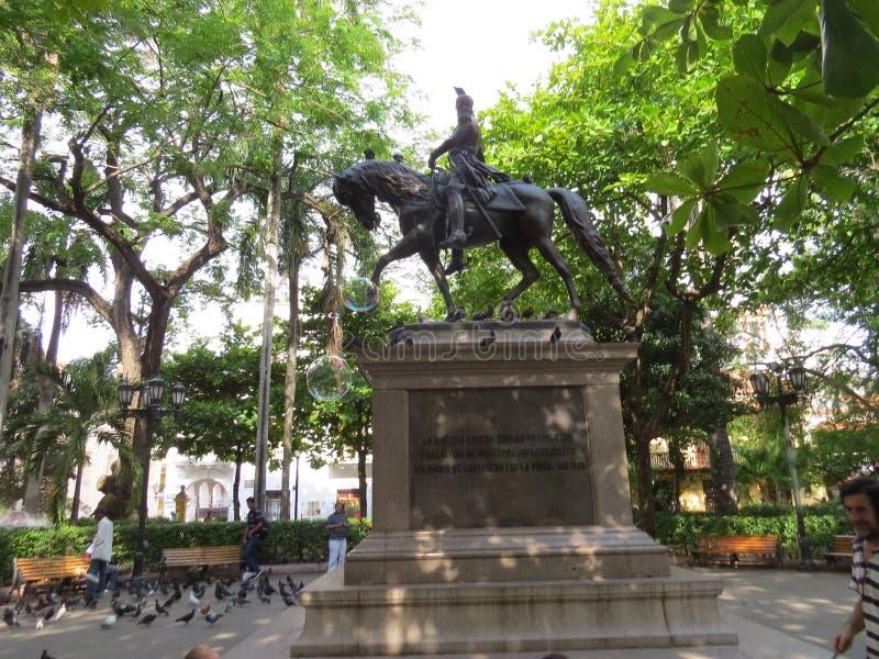 Bolivar em Cartagena fotografia de stock