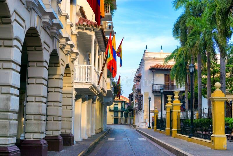 Bolivar-Piazza in Cartagena, Kolumbien lizenzfreies stockbild