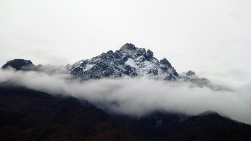 Bolivar`s peak. The majestic highest peak of Venezuelan Andes in its splendor royalty free stock images