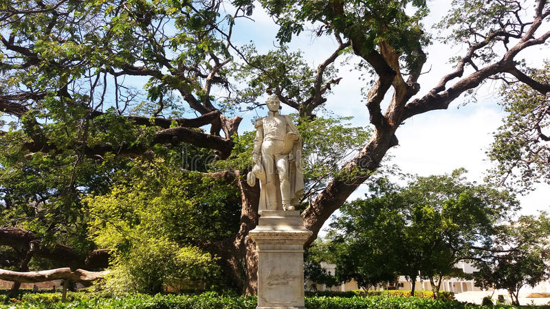 Bolivar statua fotografia stock