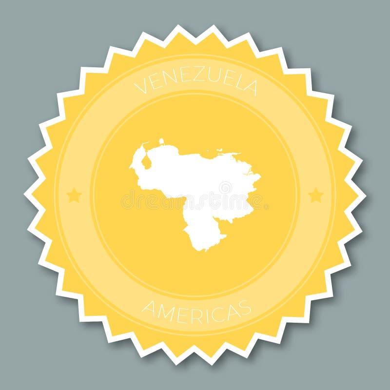 Bolivarianska republiken Venezuelaemblemlägenhet royaltyfri illustrationer