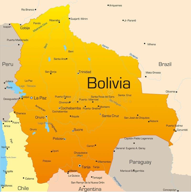 Bolivië royalty-vrije illustratie