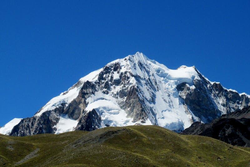 Bolivia Andes Huayna Potosi trek stock photos