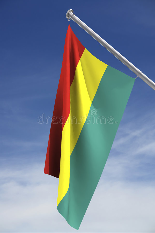 bolivia flagga royaltyfri illustrationer