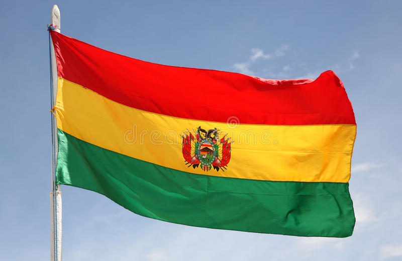 bolivia flagga royaltyfri fotografi