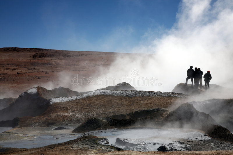 bolivia geyser royaltyfri bild