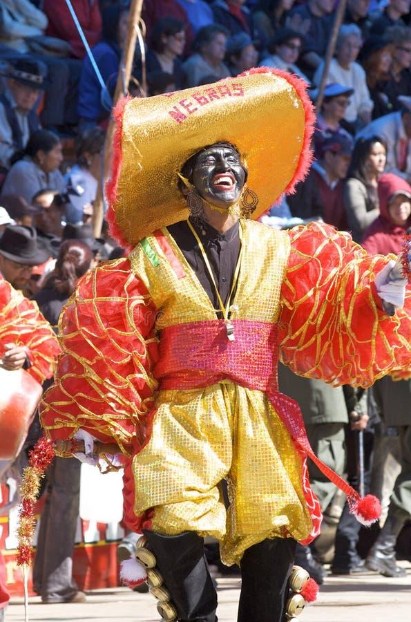 bolivia karnevalfebruari oruro 2009 arkivbilder