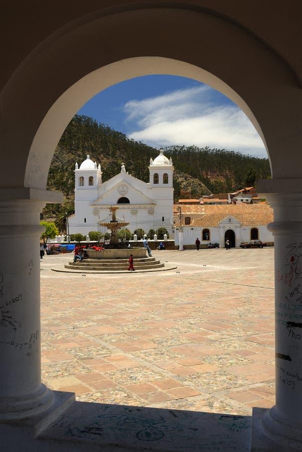 bolivia klosterrecoleta sucre royaltyfria bilder