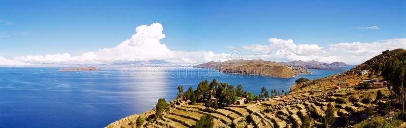 bolivia lakeperu titicaca royaltyfri bild