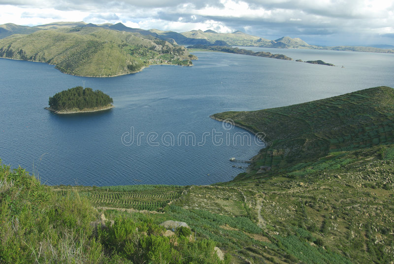 bolivia lakeperu titicaca arkivfoto