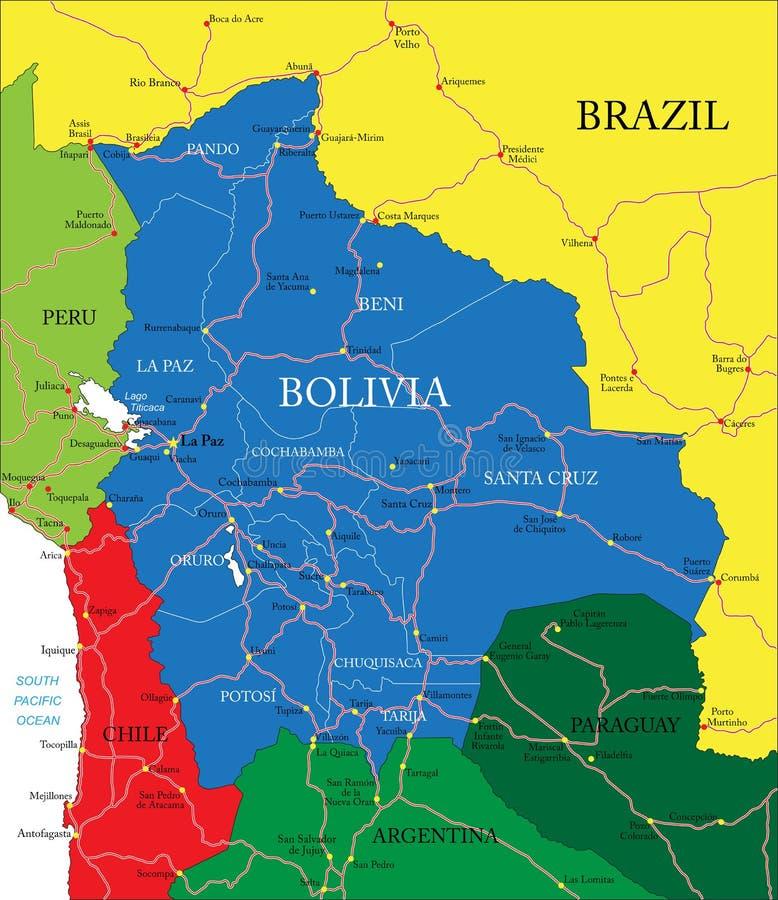 Bolivia map stock vector Illustration of bolivia vector 36495757