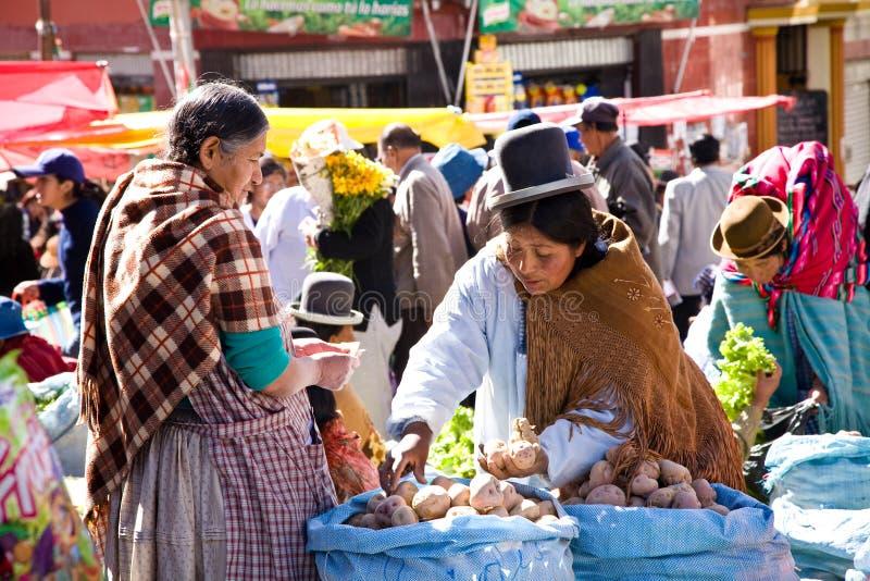 bolivia marknad royaltyfria foton