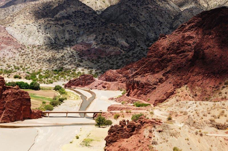 Bolivia, paisaje de Tupiza imagen de archivo libre de regalías