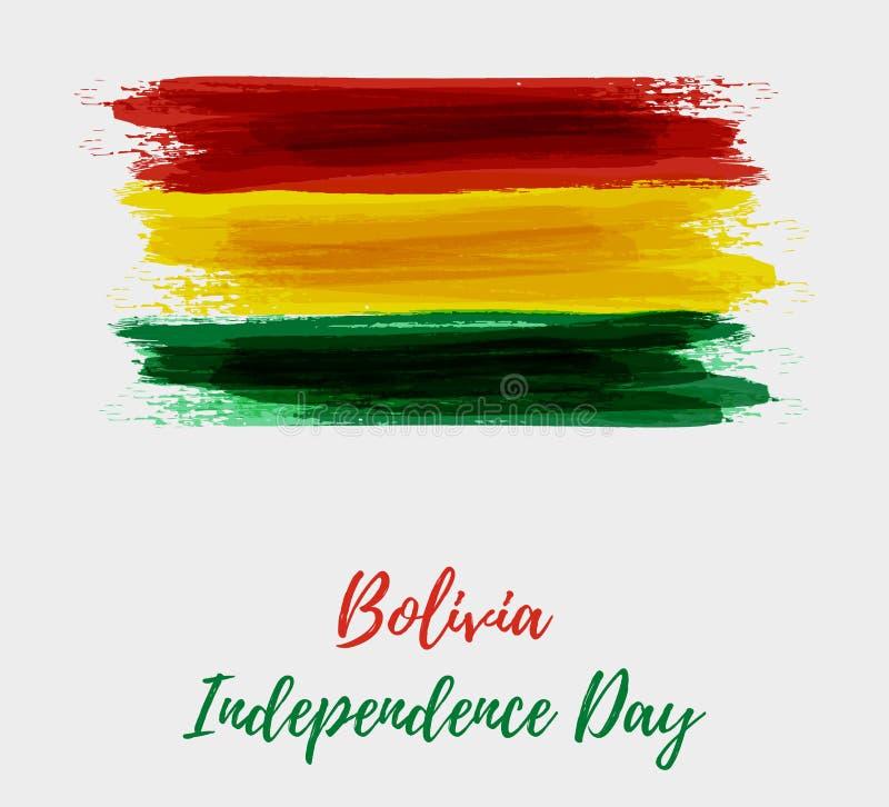 Bolivia självständighetsdagen stock illustrationer