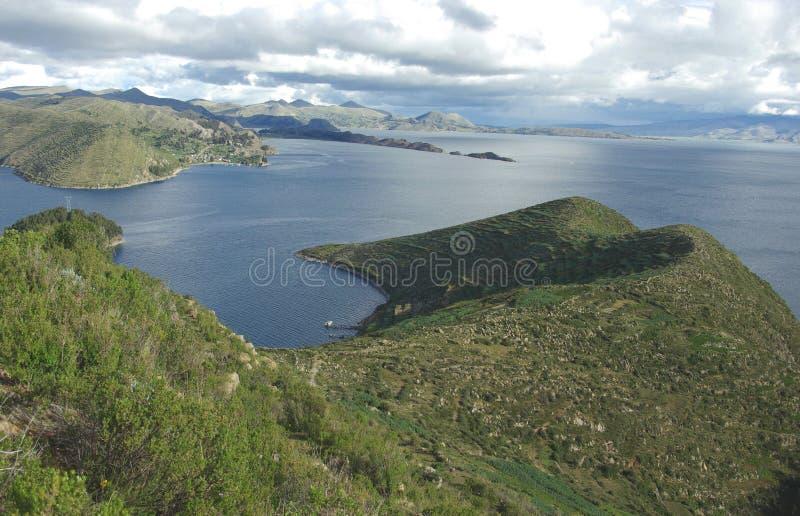 bolivia titicaca jeziora. obraz stock