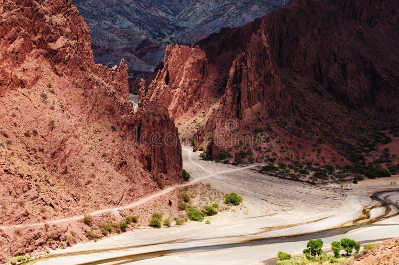 Bolivia, Tupiza - la mayoría del beautifull los Andes foto de archivo