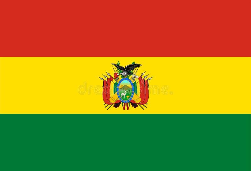 Boliviaanse Nationale Vlag vector illustratie