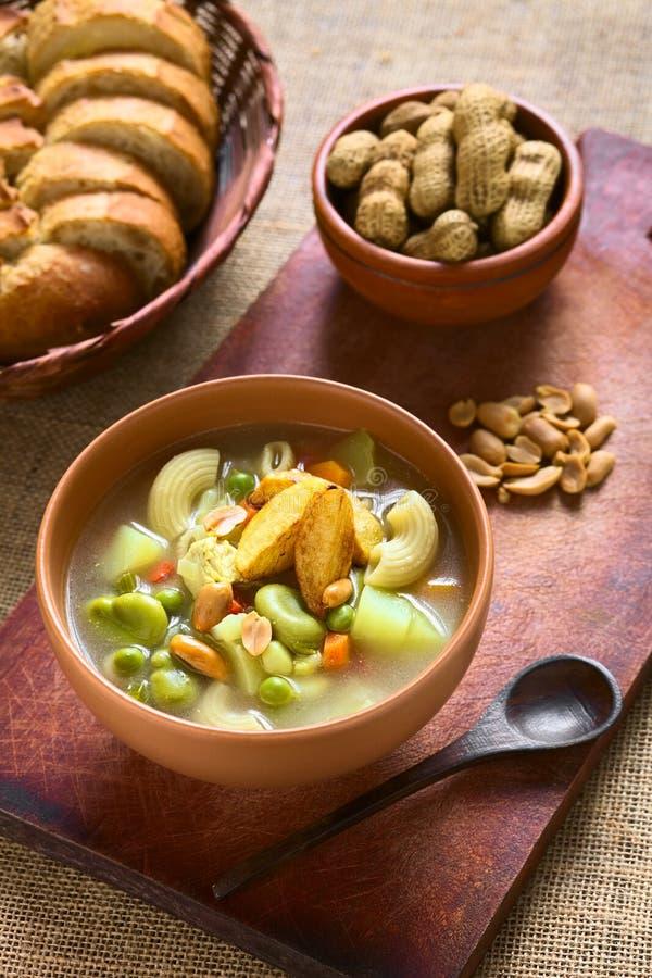 Boliviaanse Sopa DE Mani Peanut Soup stock afbeelding