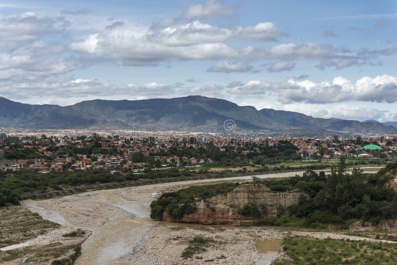 Boliviaanse stad van Tarija stock afbeelding