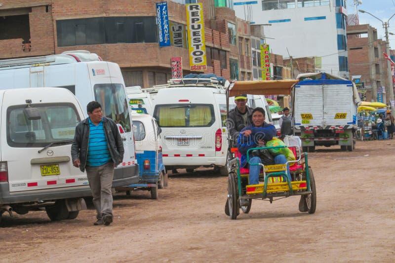 Boliviaanse straten royalty-vrije stock afbeeldingen