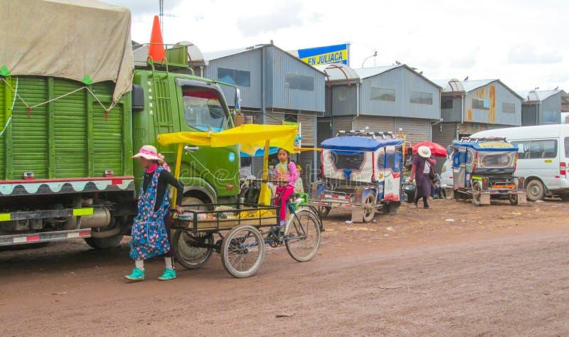 Boliviaanse straten stock foto