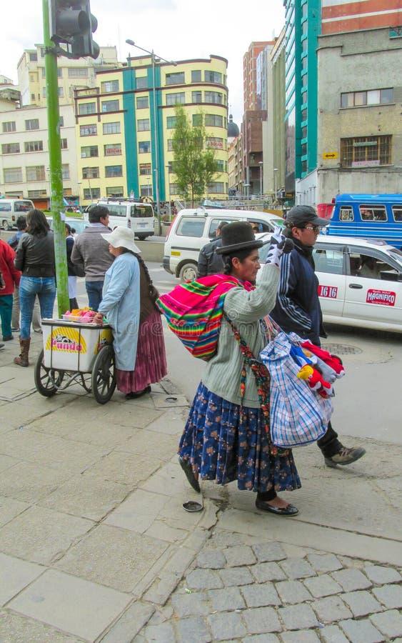 Boliviaanse straten stock foto's