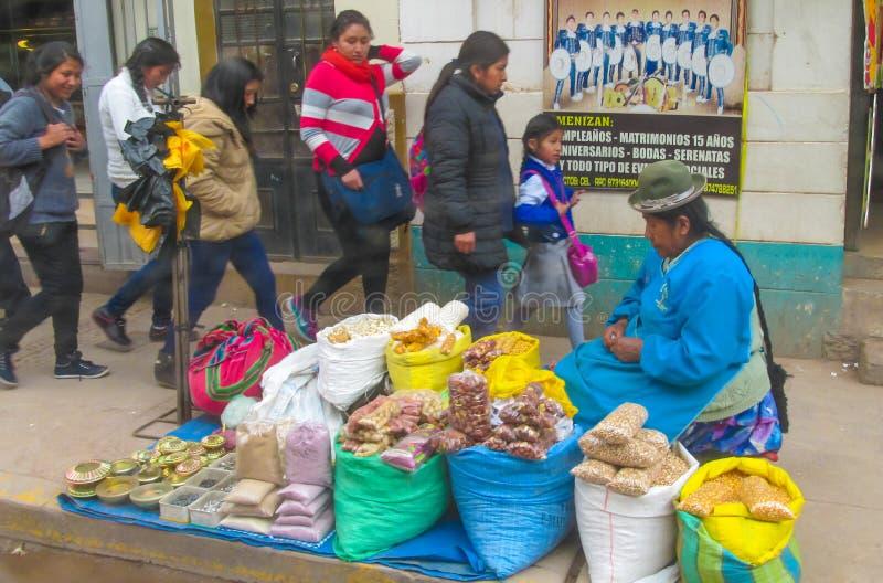 Boliviaanse straten stock fotografie