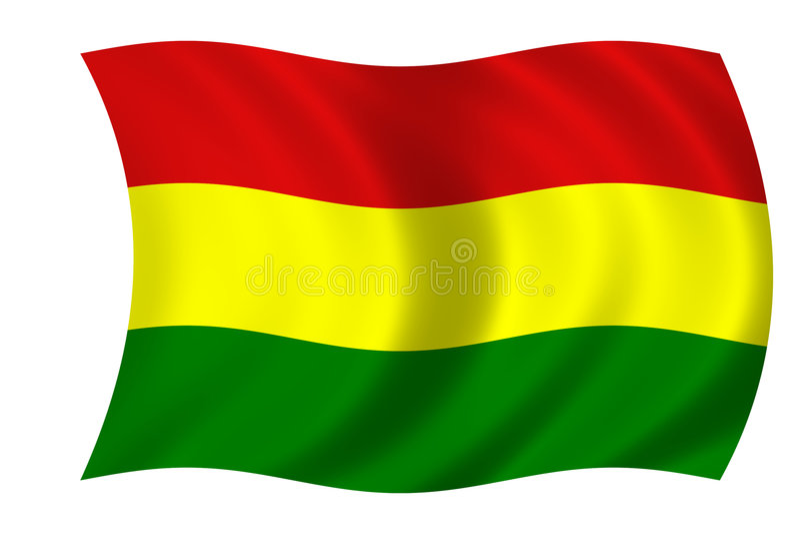 Boliviaanse vlag stock illustratie