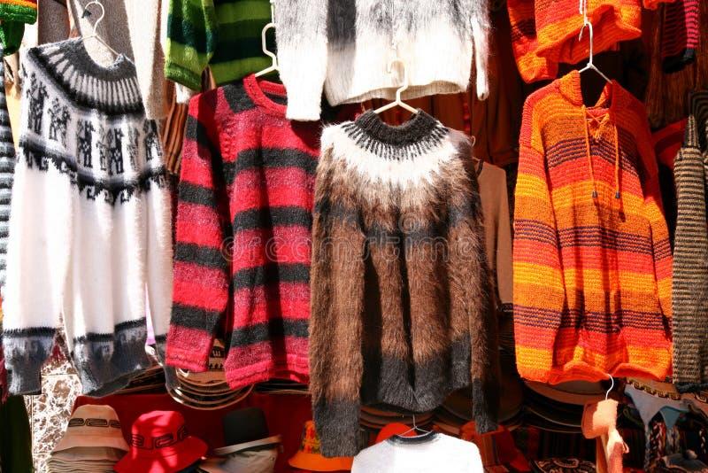 Boliviaanse wol-slijtage royalty-vrije stock afbeelding