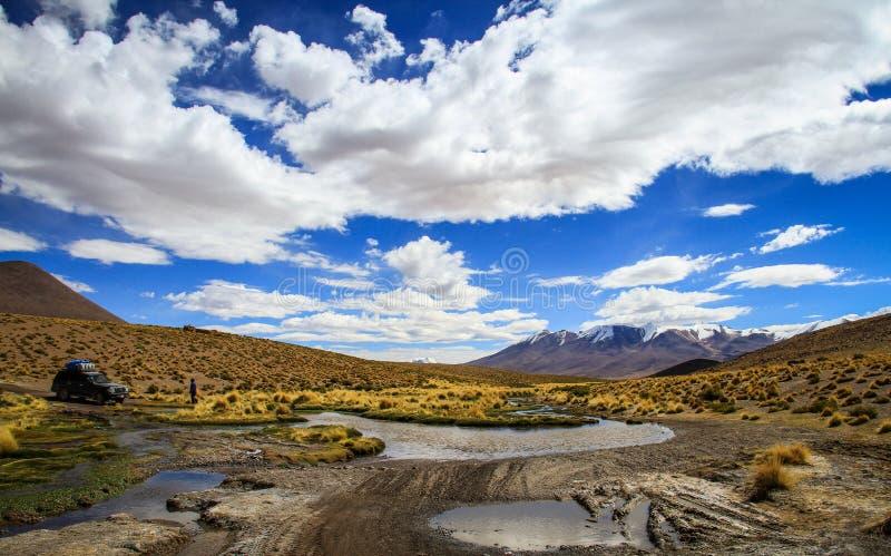 Bolivian Altiplano, en Route towards Uyuni stock photography