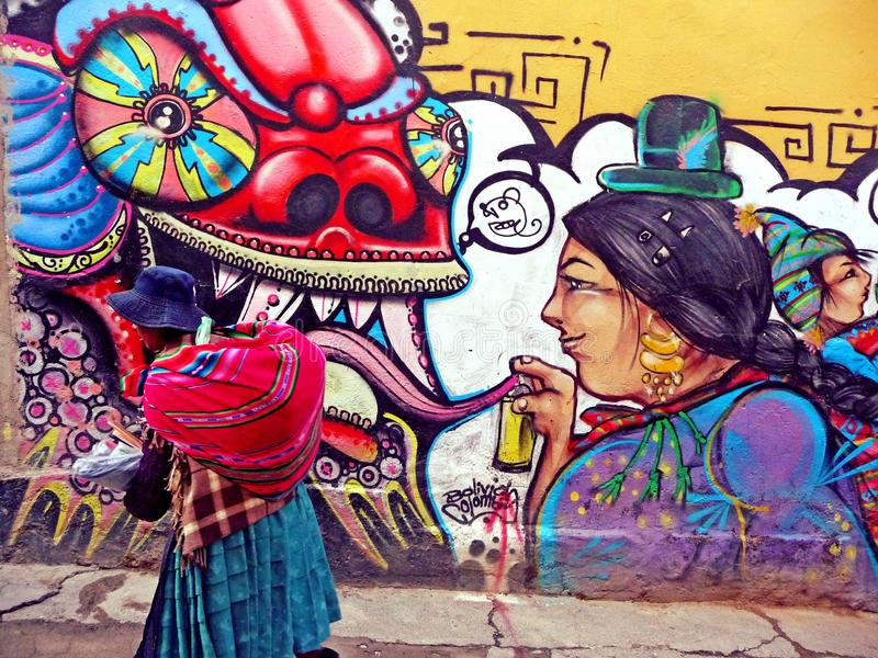 Bolivian Cholita stock photography