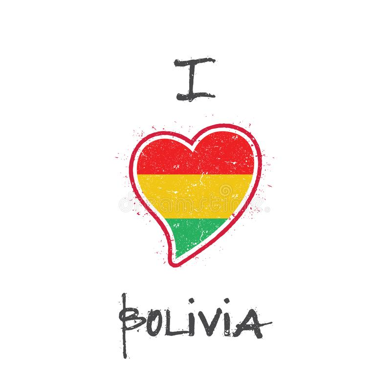 Bolivian flag patriotic t-shirt design. royalty free illustration